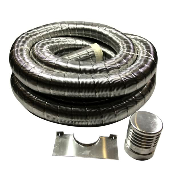 "10mtr Flexible 5"" inch Gas Liner Pack - Gas liner"