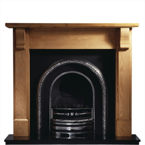 "Bedford Pine Cast Fireplace - Bedford 48"" or 54"""