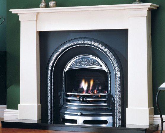 Victorian Clifton Limestone Cast Iron Fireplace Package Complete - Clifton Cast Package