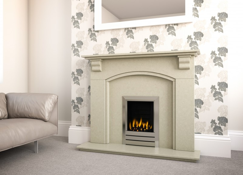 Pudsey Classic Marble Fireplace Suite - Classic Stone or Marble Suite