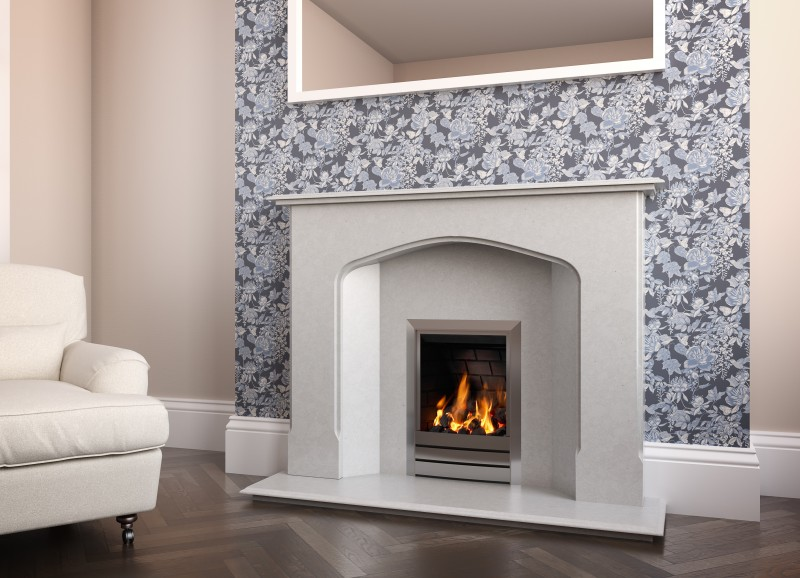Pudsey Atlantic Splayed Marble Fireplace Suite - Atlantic Stone or Marble Suite