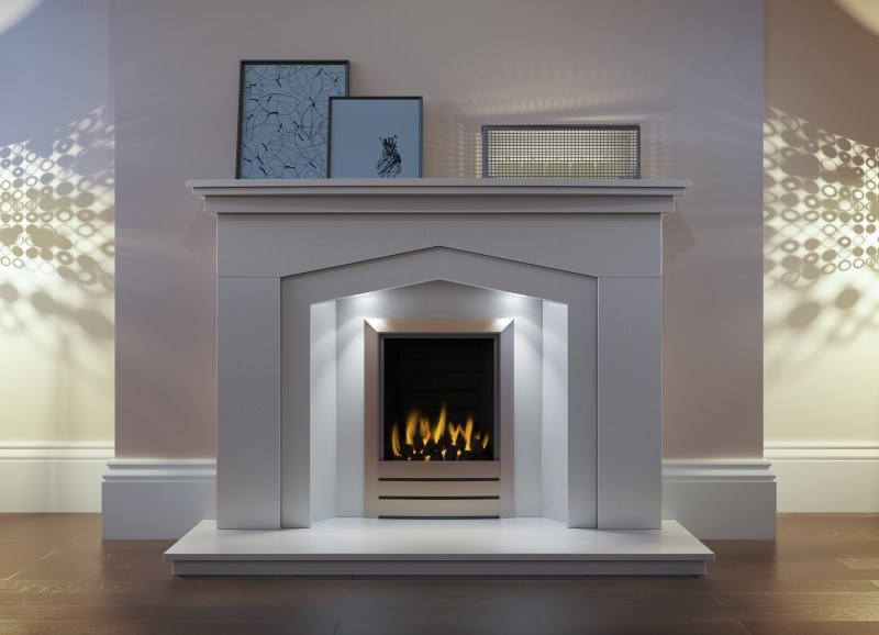Pudsey Merrydale Tudor Fireplace Suite - Merrydale Tudor Stone or Marble Suite