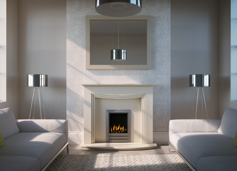 Pudsey Sydney Marble Fireplace Suite - Sydney Marble or Stone Suite