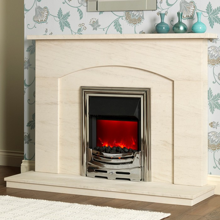 Elsa Natural Limestone Fireplace Suite - Elsa 51""