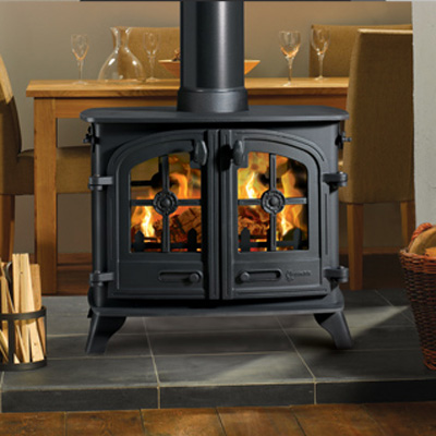 Yeoman Devon Double Sided Wood, Multi-fuel Stove - Yeoman Devon DS Double