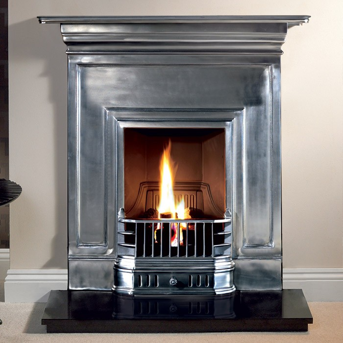 Cottam Barcelona Cast Iron Polished Fireplace - Cottam Polished Cast