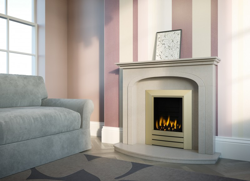 Pudsey Denton Fireplace - Denton Stone or Marble Suite