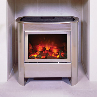 Gazco Steel Manhattan Electric Small Stove - Gazco Steel Manhattan Small Electric