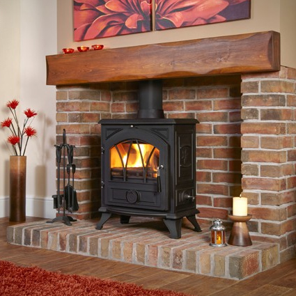 Portway 2 Cast Iron Arched - Traditional Multi Fuel Stove - Portway 2 Cast Iron Arched