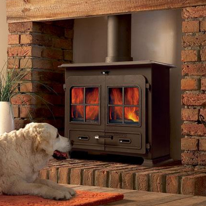 Portway 3 Large Traditional Multi Fuel Stove - Portway 3 Traditional