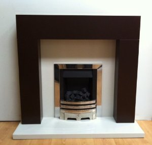 Orbit Chocolate Chunky Fireplace Surround - Orbit Chocolate