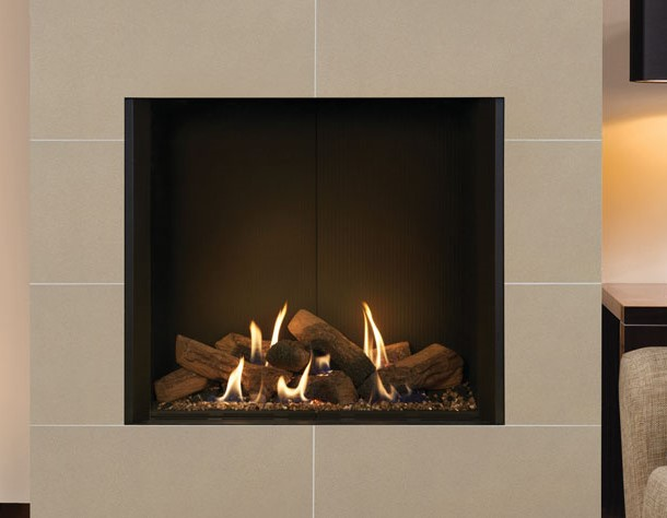 Gazco Riva2 800 Edge Gas Fire - Riva2 800 Edge Balanced Flue Gas Fire