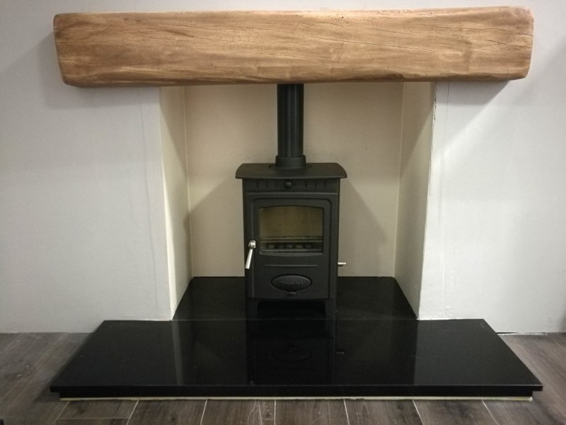 STOVE PACKAGE DEAL with RESIN OAK EFFECT BEAM - £999 STOVE PACKAGE Deal
