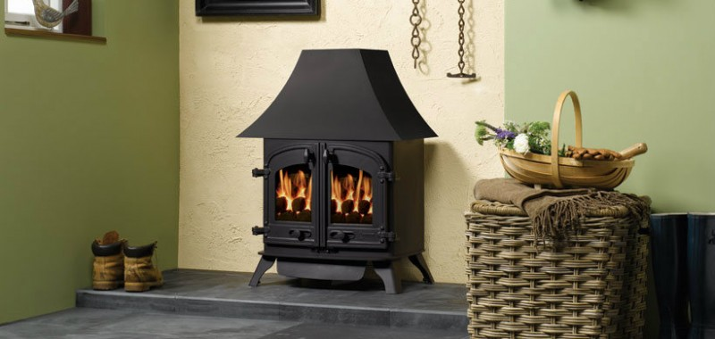 Yeoman Devon Wood & Multi-fuel Stove High Canopy Ex display - Yeoman Devon Wood & Multi-fuel Stove High Canopy