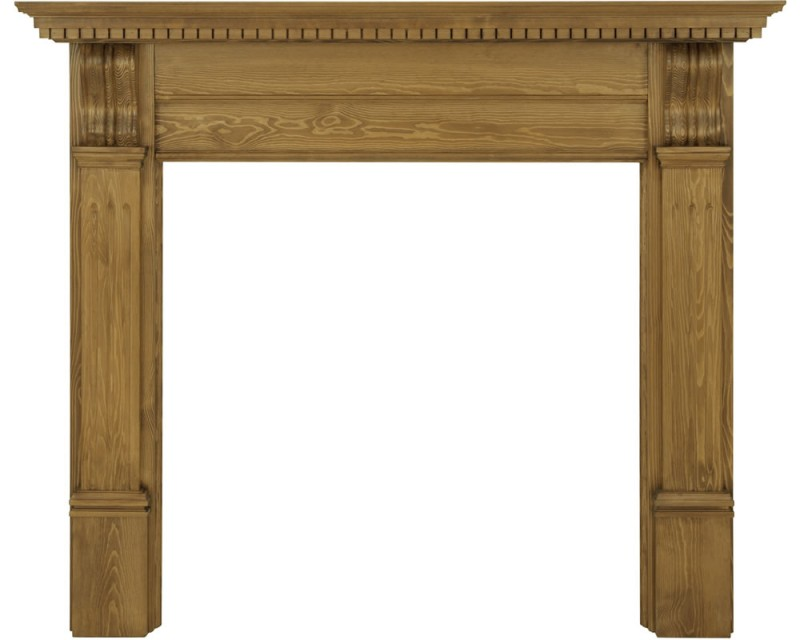 Carron The Corbel Waxed Pine Surround - The Corbel