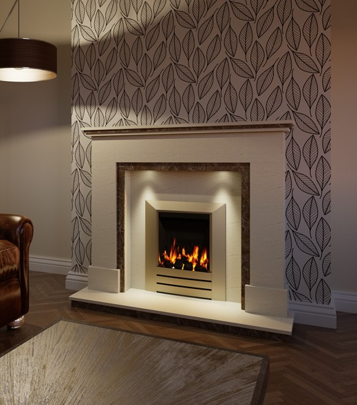 Pudsey Alexander Fireplace Suite - Alexander Stone or Marble Fireplace Suite