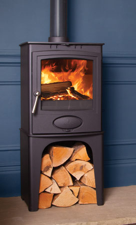Arada Ecoburn Plus 5 Multifuel Stove with Log Store - Ecoburn Plus 5 Log
