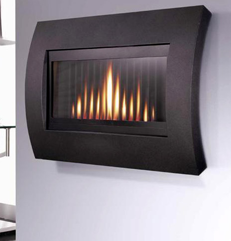 Flavel Curve Hang on the Wall Glass fronted Gas Fire - Curve