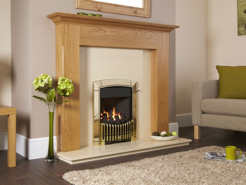 Flavel Caress Plus RC Contemporary Brass Gas Fire - Caress Plus RC