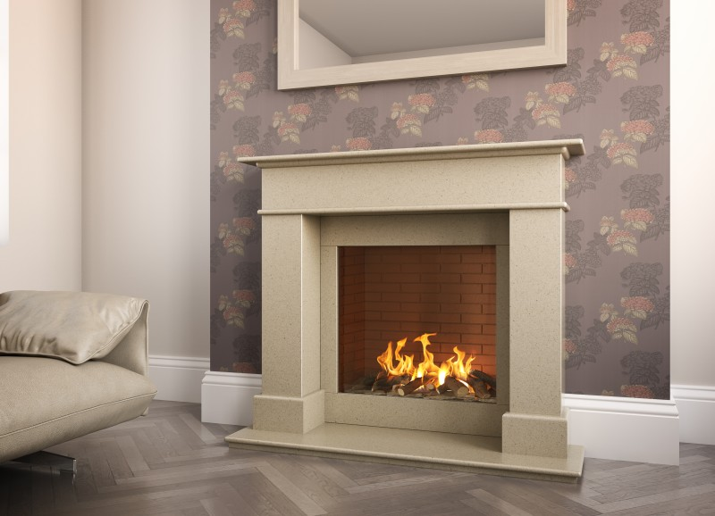 Pudsey Balmoral Grace Fireplace - Balmoral Stone or Marble Suite