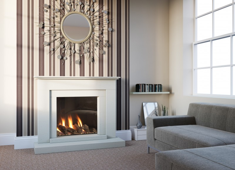 Pudsey Mia Marble Stone Fireplace - Mia Stone or Marble Suite