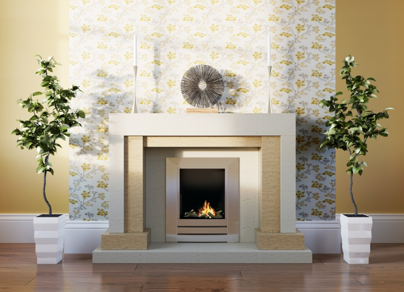 Pudsey Memphis Stone or Marble Fireplace Suite - Memphis Stone or Marble Suite