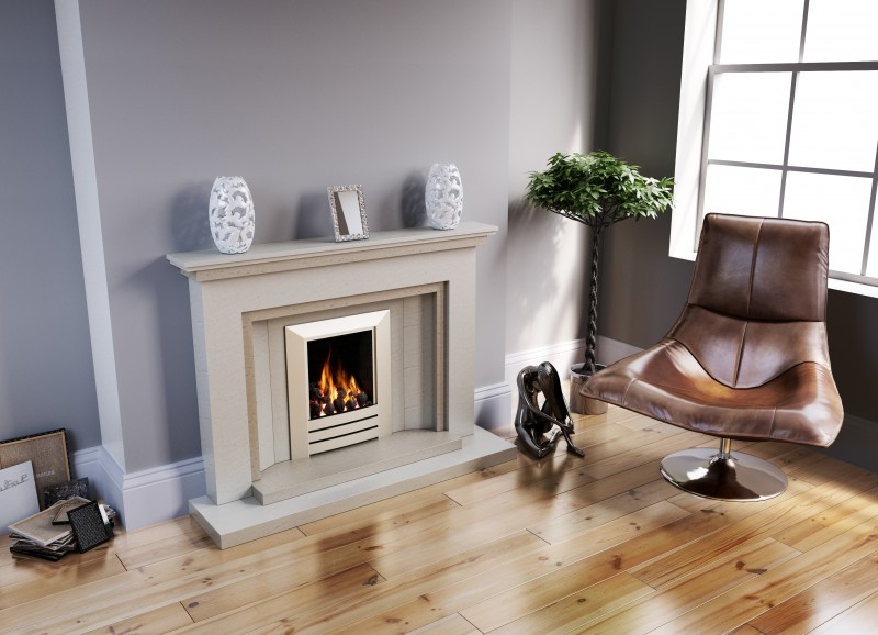 Pudsey New York Stone or Marble Fireplace Suite - New York Stone or Marble Suite