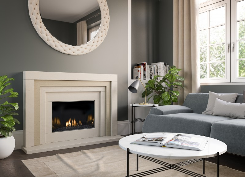Pudsey 3 Step Marble Stone Fireplace Suite - 3 Step Marble or Stone Suite