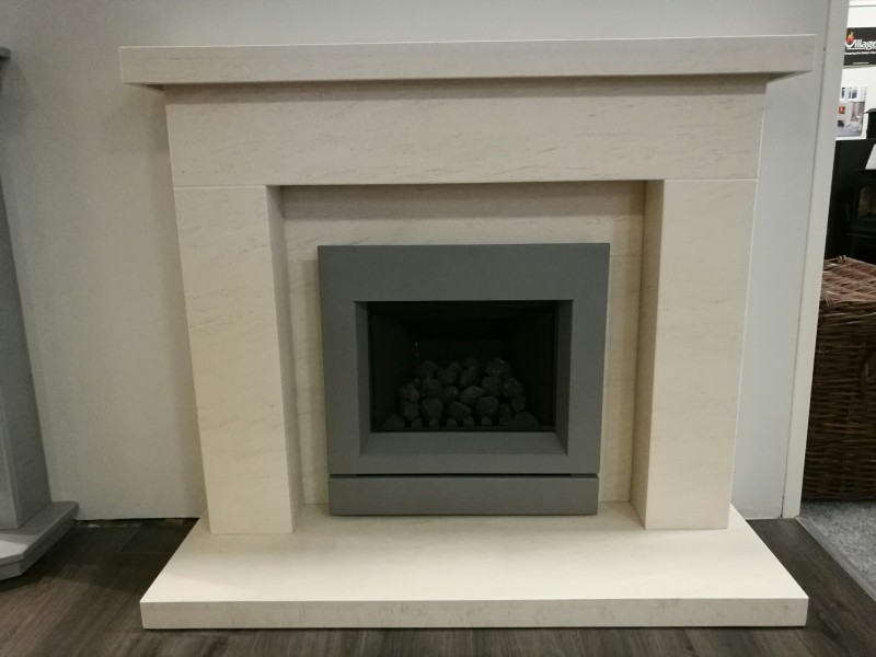 Pudsey Holbeck Marble Stone Fireplace Suite - Holbeck Stone or Marble Suite