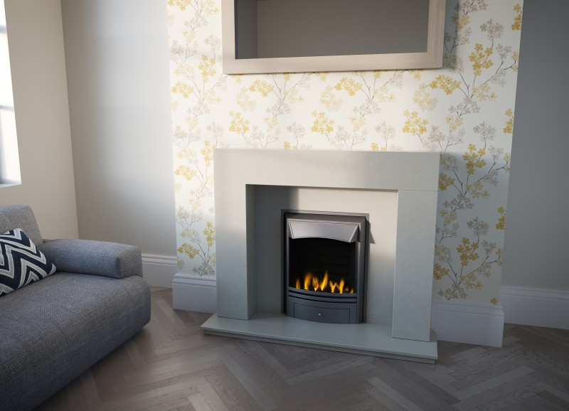 Pudsey Goalpost Marble Stone Fireplace Suite - Goalpost Marble or Stone Suite