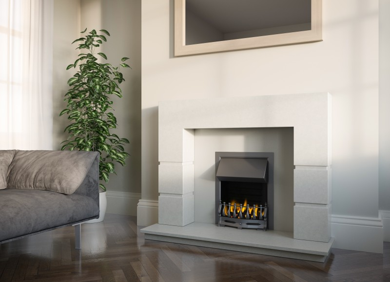 Pudsey Lattice Stone or Marble Fireplace Suite - Lattice Stone or Marble Suite