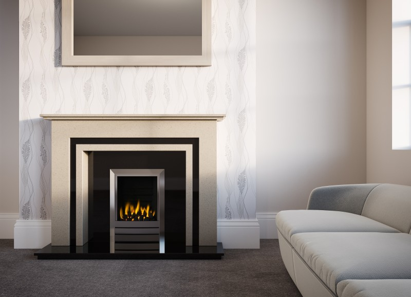 Pudsey Phoenix Stone or Marble Fireplace Suite - Phoenix Marble or Stone Suite
